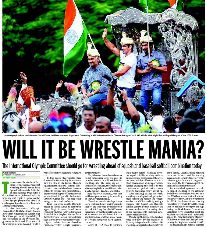 The Mumbai Mirror page on which the article appeared.